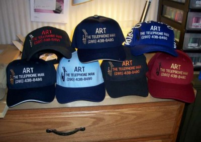 Art the Telephone Man Baseball Caps