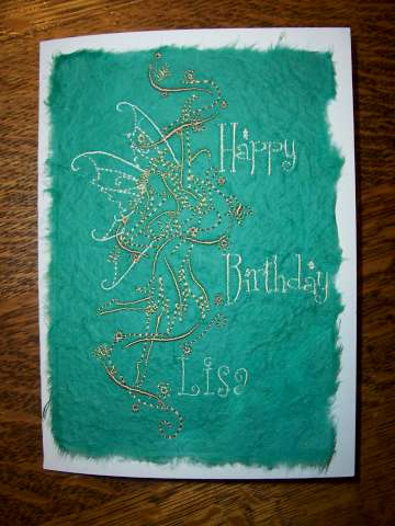 Embroidered Keepsake Birthday Card