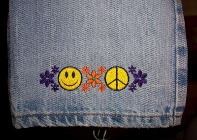 Flower Power Blue Jeans
