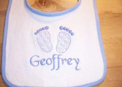 Footprint Baby Bib with Name
