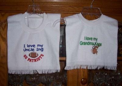 I Love My Uncle & I Love My Grandma Bibs
