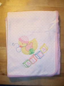 Toy Duck with Blocks, Baby Blanket