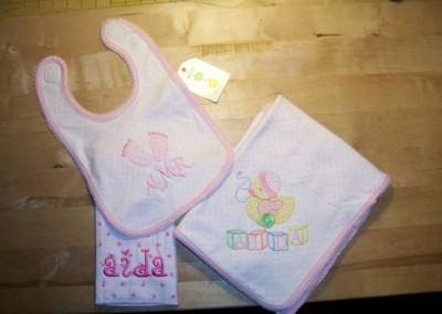 Burp Cloth, Blanket & Bib