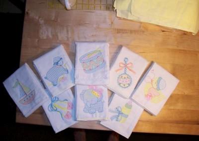 Set of burp cloths