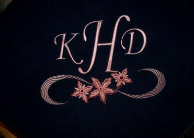 Floral Flourish Monogram Blanket