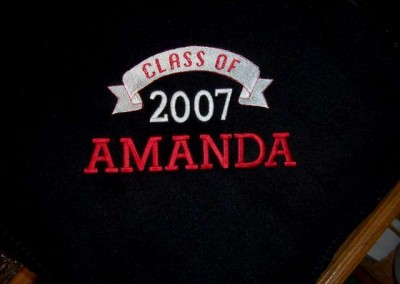 Class of 2007 Blanket with Name
