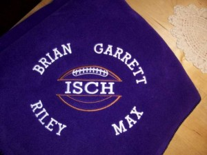 Brownsburg Blanket with Names