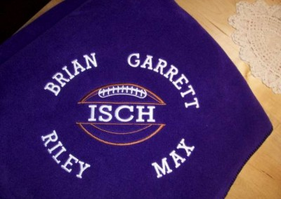 Brownsburg Blanket with Names
