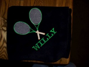 Tennis Blanket with Name