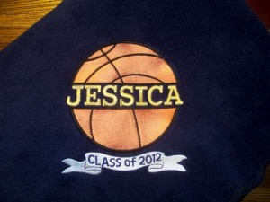 Class of 2012 Basketball Blanket