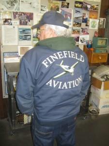 Finefield Aviation Jacket Back