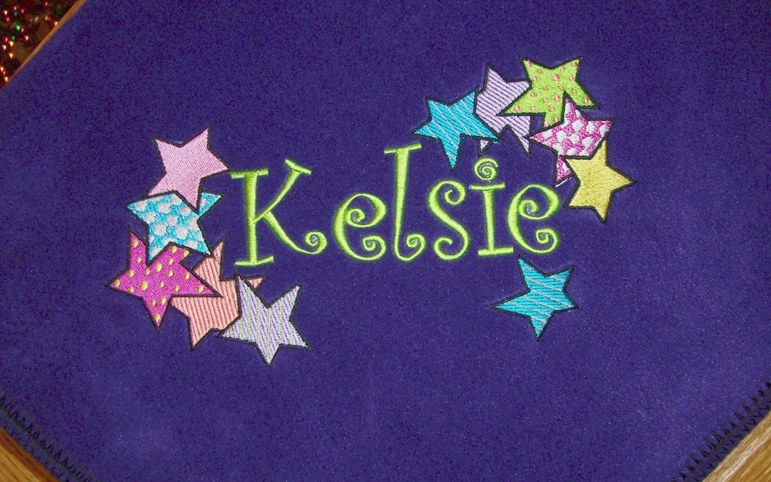 Personalized Kid's Blanket with Colorful Stars