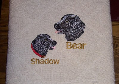 Shadow & Bear Pet Throw