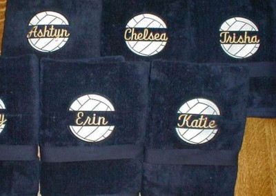 Volleyball Towels with Names