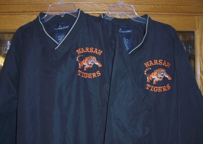 Warsaw Tigers Windbreakers