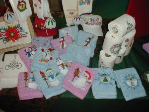 Christmas and Winter Embroidery on many items