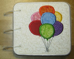 Embroidered Book of Colors for Baby - Front Cover Balloons