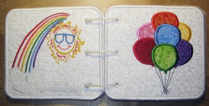 Embroidered Book of Colors for Baby - Front & Back Covers