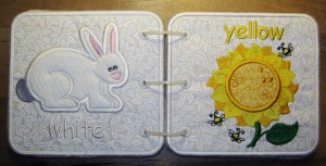 Embroidered Book of Colors for Baby - Rabbit & Sunflower