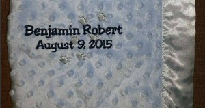 Baby Blanket with Paw Prints