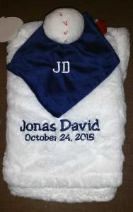 Baseball-Themed Baby Blanket