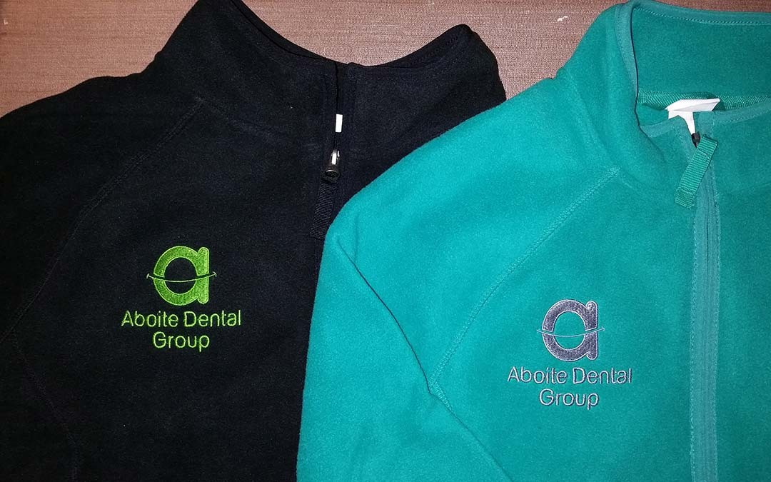 Aboite Dental Group Fleece Jackets with Logo Embroidered