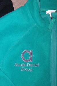 Aboite Dental Group Teal Fleece with Gray Embroidery