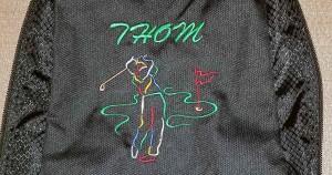 Custom Embroidered Golf Bag for Provoto - Thom