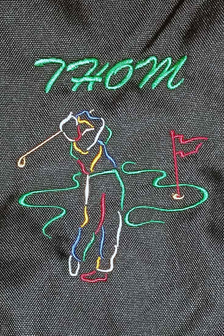 Custom Embroidered Golf Bag for Provoto - Thom