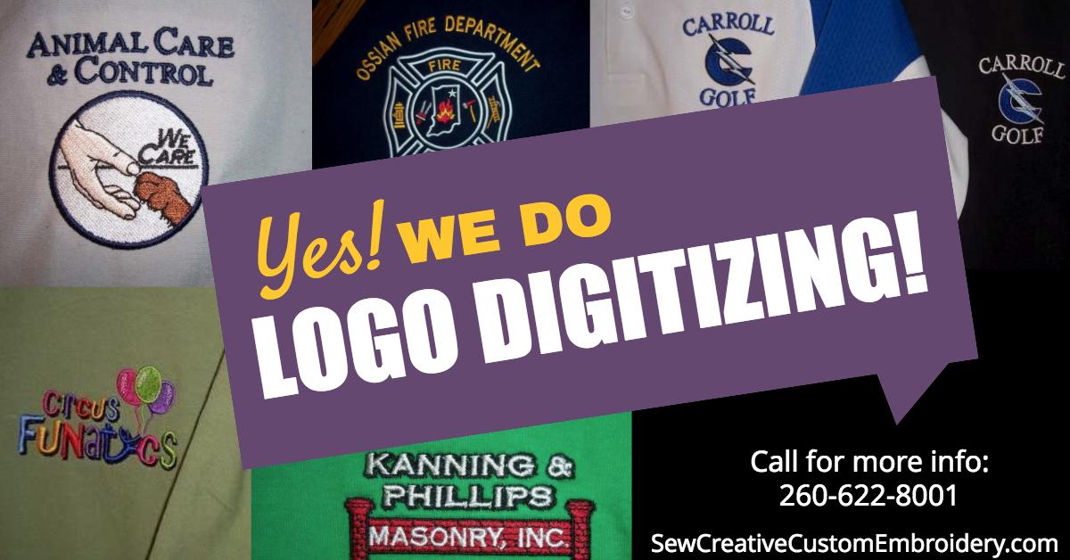 Yes! We do logo digitizing!