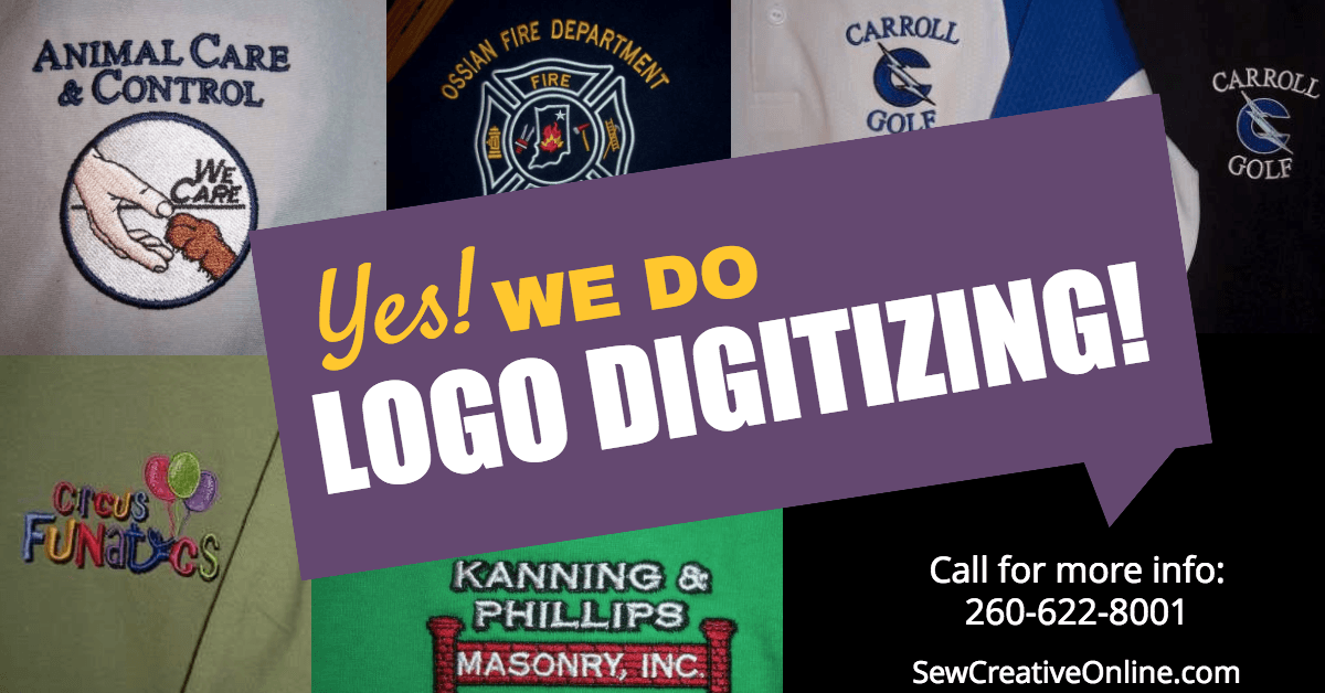 Yes! We do logo digitizing!