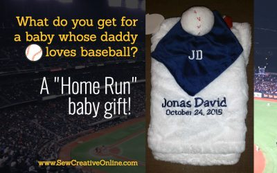 "A ""Home Run"" Baby Gift"