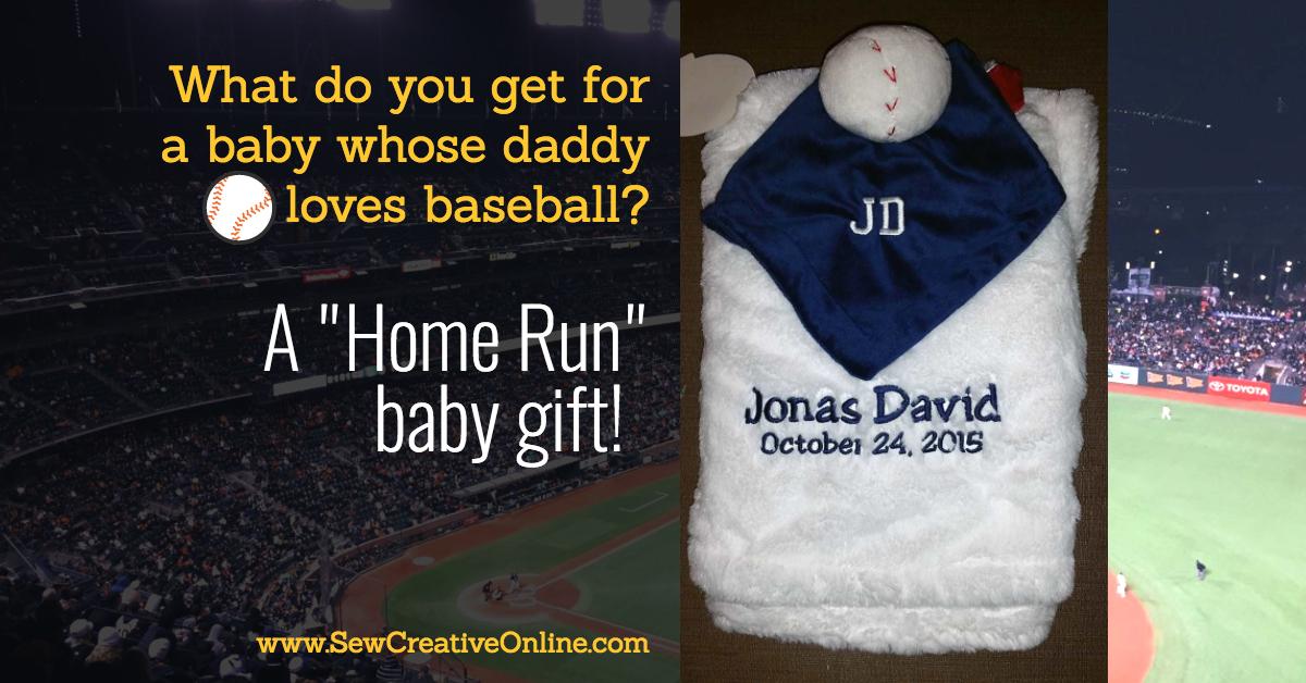 "A ""Home Run"" Baby Gift"