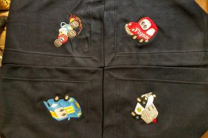 Fun Cars on Sweatshirt Blanket