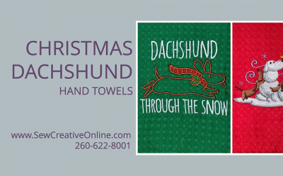 Christmas Dachshund Hand Towels