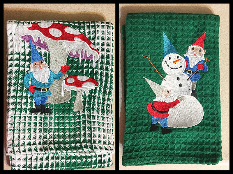 Gnomes in Winterland Hand Towels