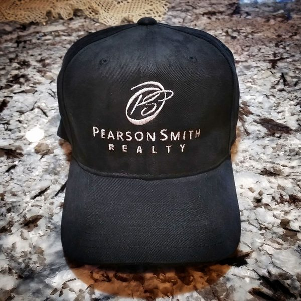 Baseball Cap with Pearson Smith Realty Logo Embroidered on Front