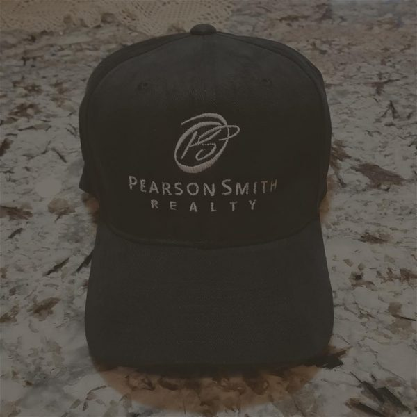 Pearson Smith Realty Logo Embroidered on Black Baseball Cap